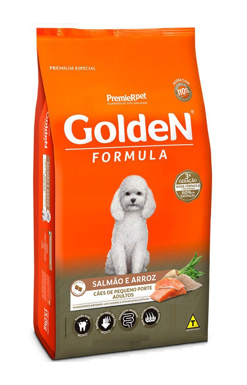 Ração Golden Formula Premium Especial Cães Adultos Raças Pequenas Salmão e Arroz