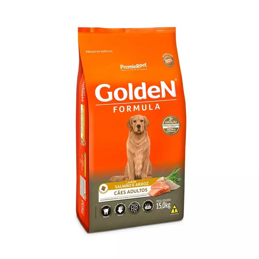 Ração Golden Premium Especial Formula Cães Adultos Raças Grande Salmão e Arroz