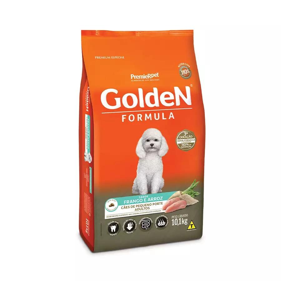 Ração Golden Premium Especial Formula Cães Adultos Raças Pequenas Frango e Arroz