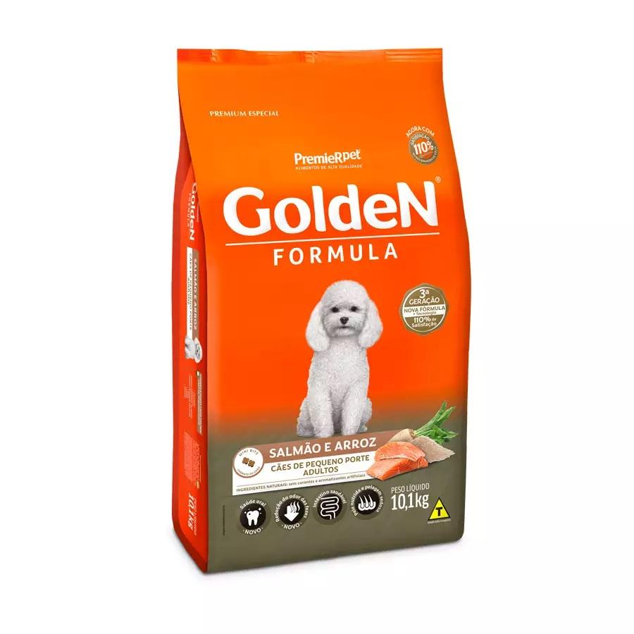 Ração Golden Premium Especial Formula Cães Adultos Raças Pequenas Salmão e Arroz