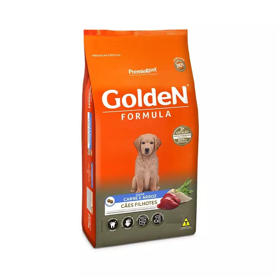 Ração Golden Premium Especial Formula Cães Filhotes Carne e Arroz