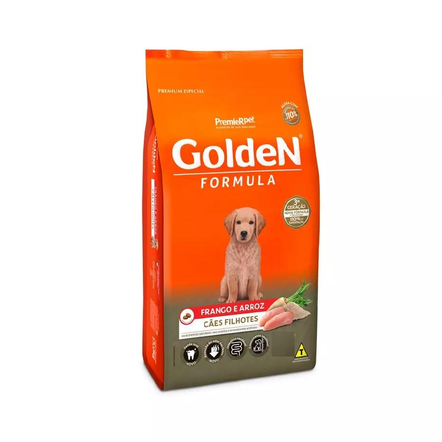 Ração Golden Premium Especial Formula Cães Filhotes Frango e Arroz