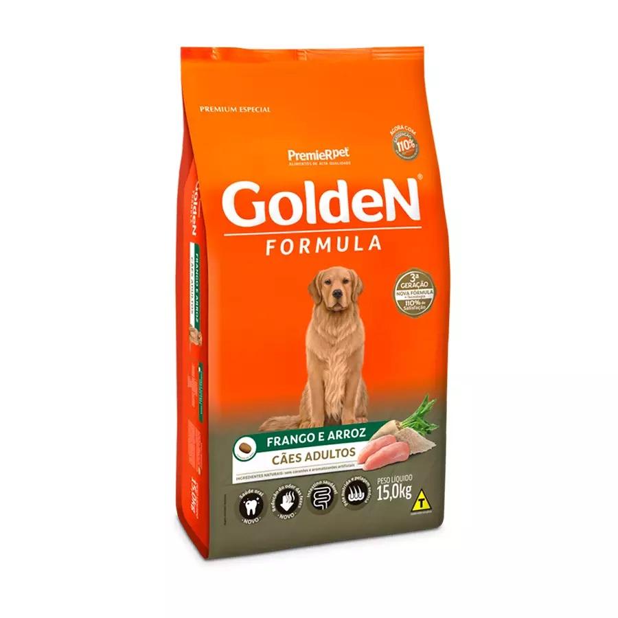 Ração Golden Premium Especial Formula Light Cães Adultos Raças Grande Frango e Arroz