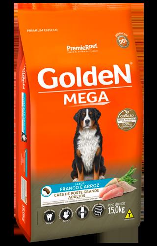 Ração Golden Premium Especial Formula Mega Cães Adultos Frango e Arroz 15kg