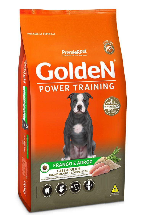 Ração Golden Premium Especial Formula Power Training Cães Adultos Frango e Arroz