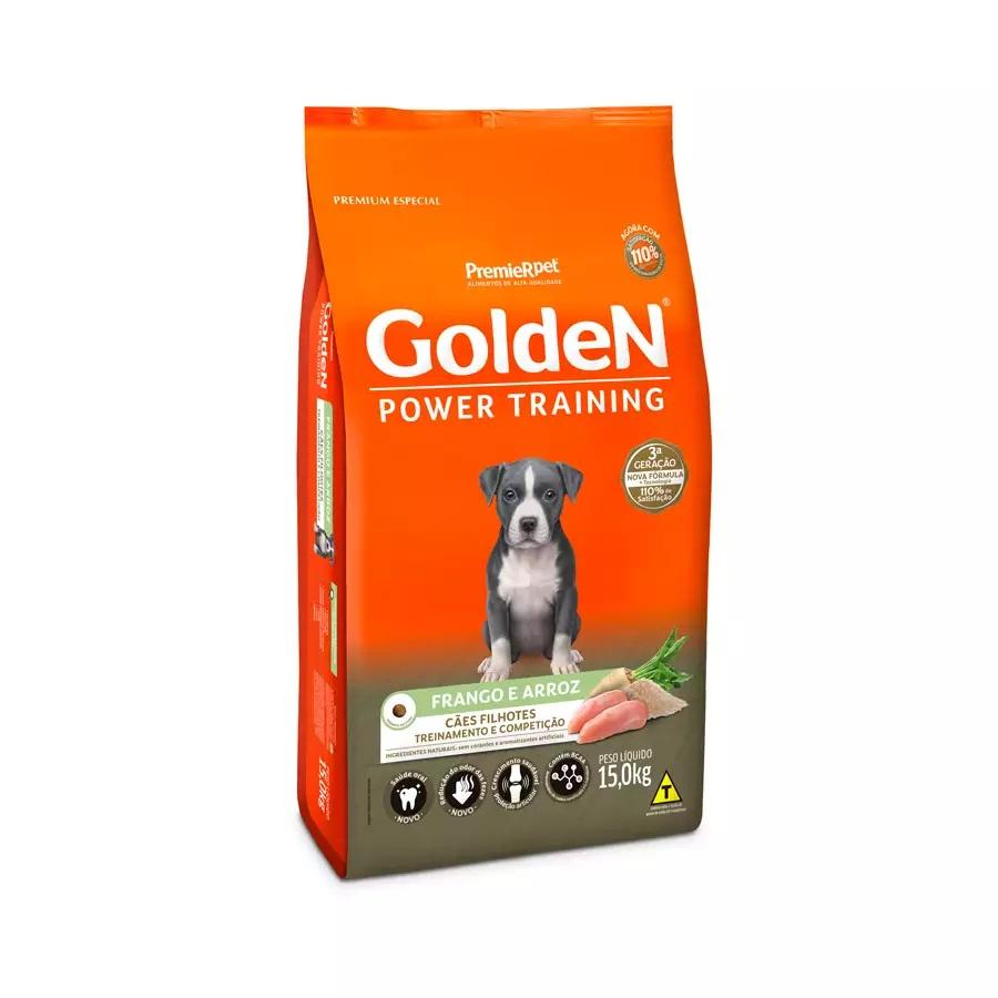 Ração Golden Premium Especial Formula Power Training Cães Filhotes Frango e Arroz