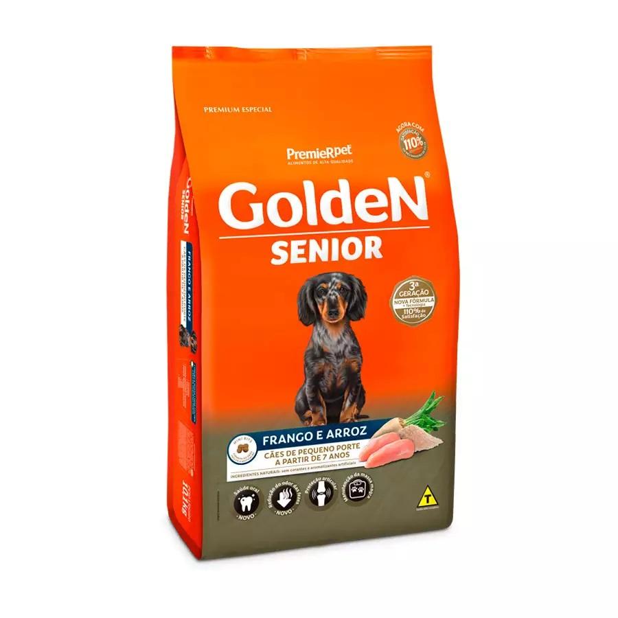 Ração Golden Premium Especial Formula Sênior Cães Adultos Raças Pequenas a Partir 7 Anos Frango e Arroz