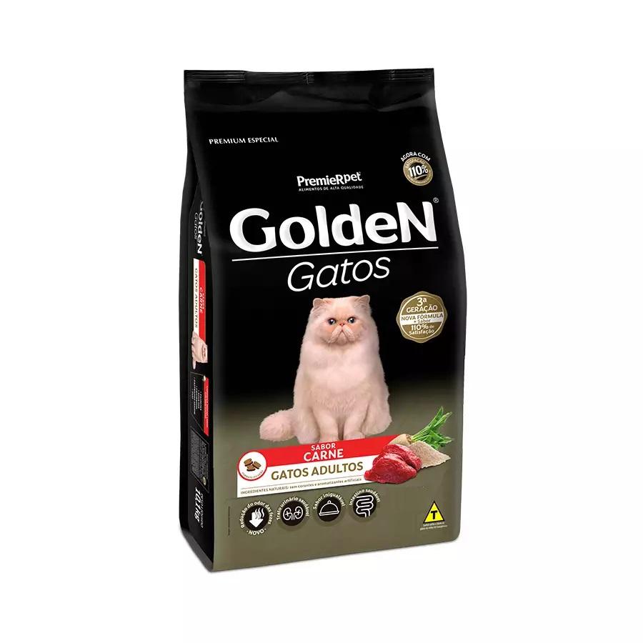 Ração Golden Premium Especial Gatos Adultos Carne