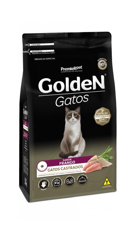 Ração Golden Premium Especial Gatos Adultos Castrados Frango