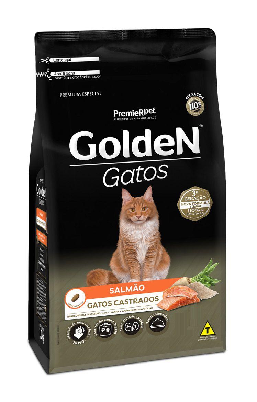Ração Golden Premium Especial Gatos Adultos Castrados Salmão