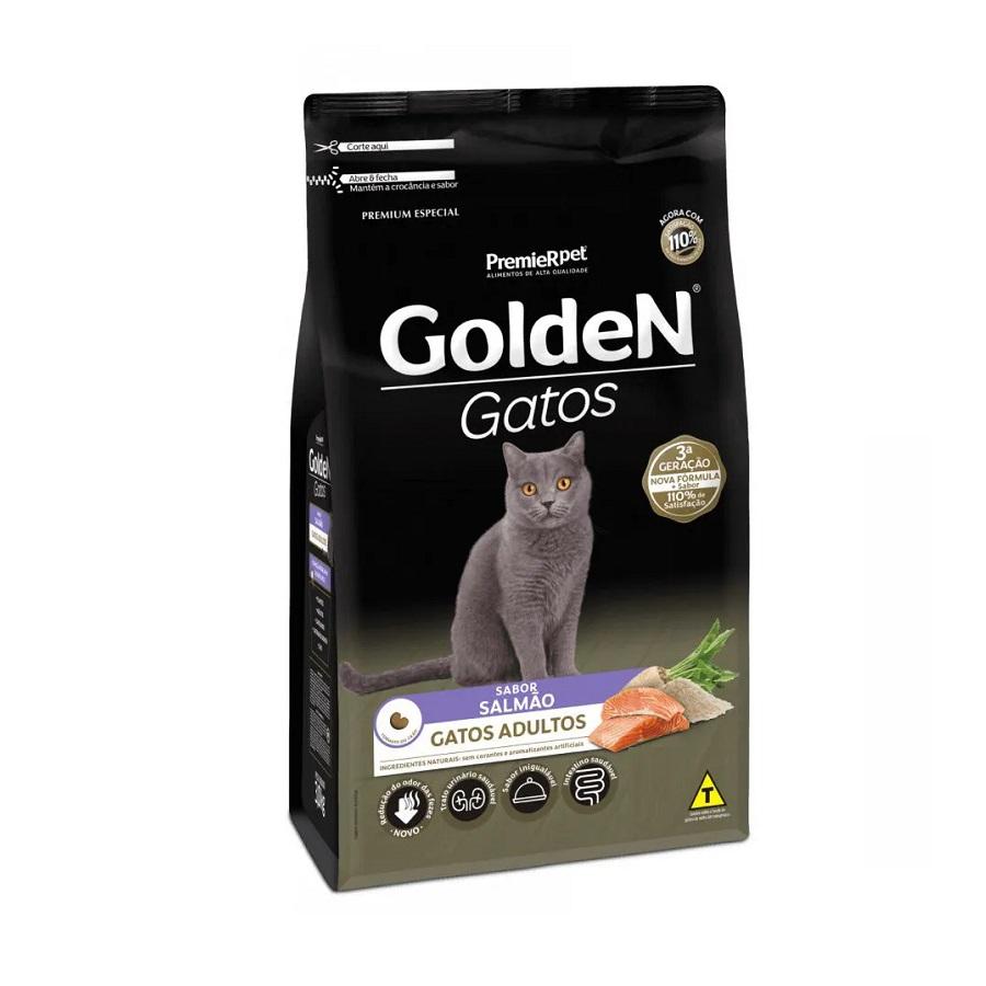 Ração Golden Premium Especial Gatos Adultos Salmão