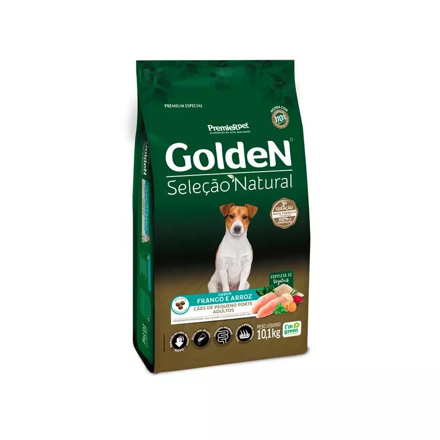 Ração Golden Seleção Natural Premium Especial Cães Adultos Raças Pequenas Frango e Arroz