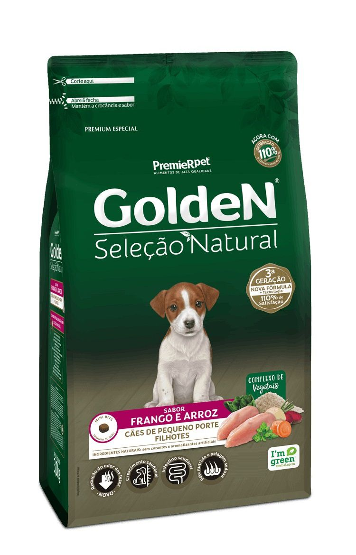 Ração Golden Seleção Natural Premium Especial Cães Filhotes Raças Pequenas Frango e Arroz
