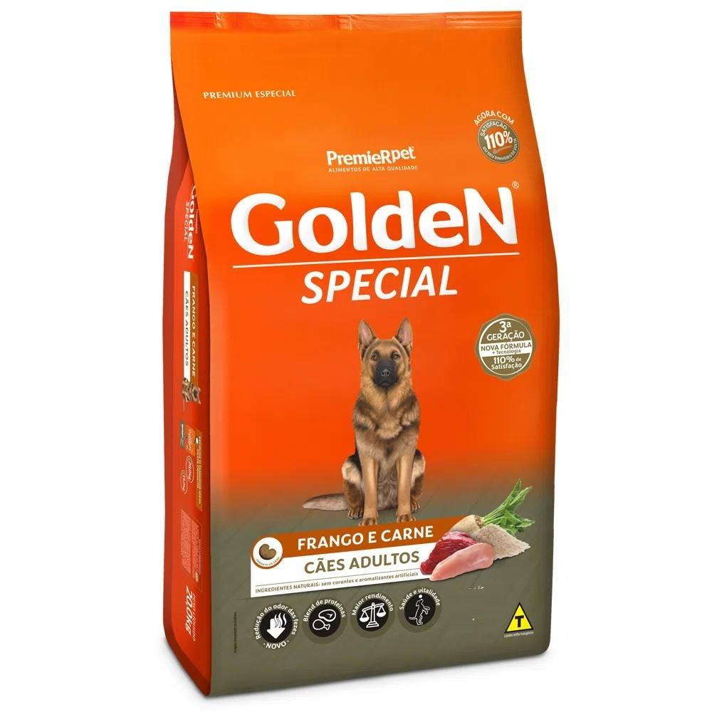 Ração Golden Premium Especial Formula Special Cães Adultos Raças Grandes Frango e Carne