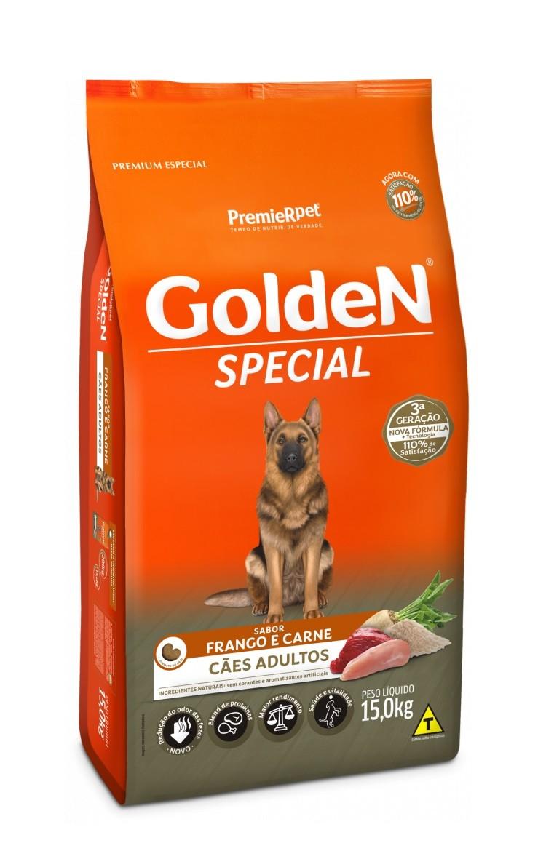 Ração Golden Premium Especial Formula Special Cães Adultos Raças Grande Carne e Arroz 15kg