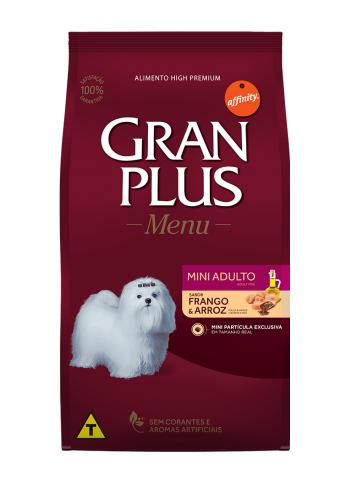Ração GranPlus Cães Adultos Raças Pequenas e Mini Sabor Frango e Arroz