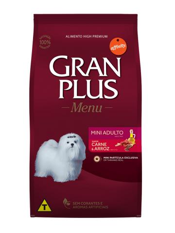 Ração Granplus Cães Adultos Raças Pequenas e Mini Sabor Carne e Arroz