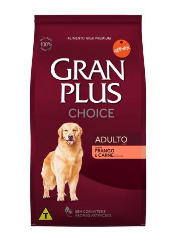 Ração GranPlus Choice Cães Adultos Sabor Carne e Frango