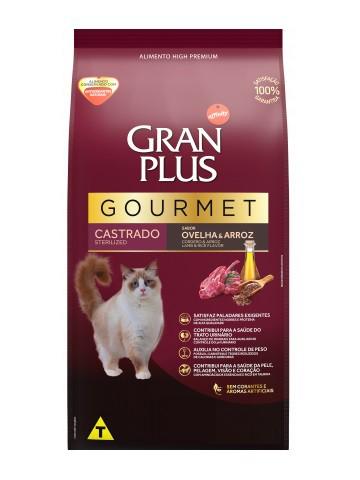 Ração GranPlus Gourmet Gatos Adultos Castrados Sabor Ovelha e Arroz