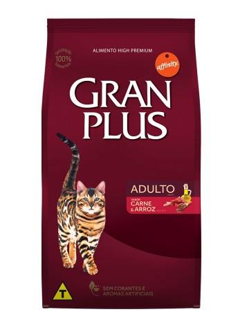 Ração GranPlus Gatos Adultos Sabor Carne