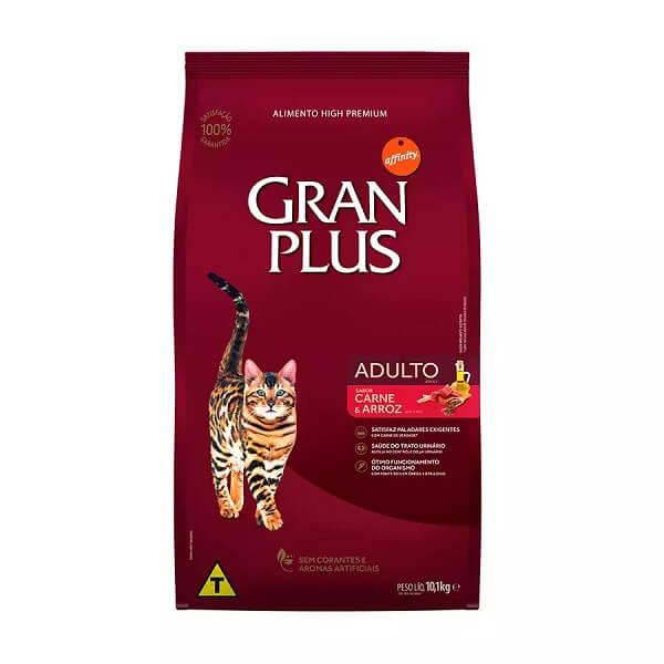 Ração GranPlus Gatos Adultos Sabor Carne e Arroz