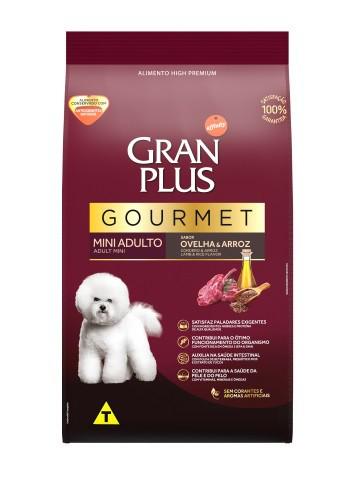 Ração Granplus Gourmet Cães Adultos Racas Pequenas e Mini Sabor Ovelha e Arroz