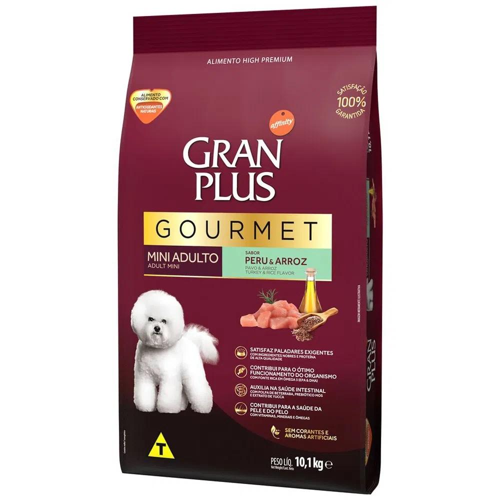 Ração Granplus Gourmet Cães Adultos Raças Pequenas e Mini Sabor Peru e Arroz