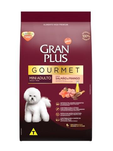 Ração Granplus Gourmet Cães Adultos Racas Pequenas e Mini Sabor Salmão e Frango