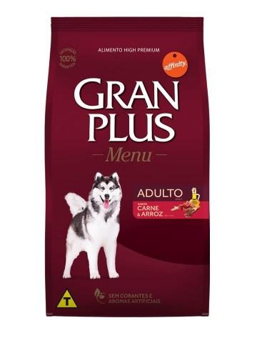 Ração GranPlus Menu Cães Adultos Sabor Carne e Arroz