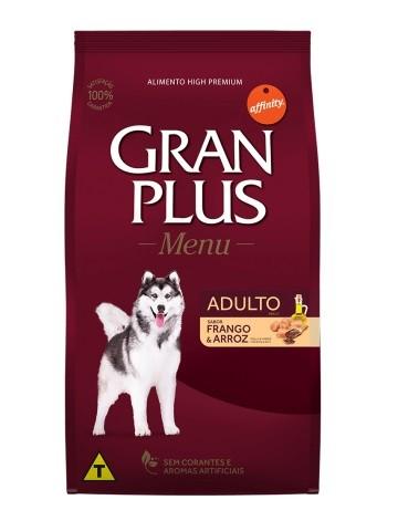 Ração GranPlus Menu Cães Adultos Sabor Frango e Arroz