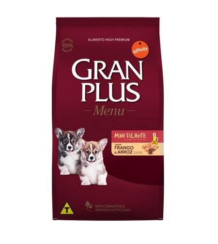 Ração GranPlus Menu Cães Filhotes Mini Sabor Frango e Arroz