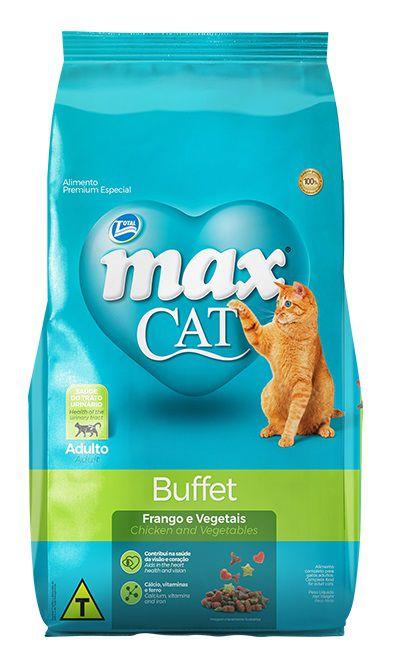 Ração Max Cat Premium Especial Buffet Gatos Adultos Frango e Vegetais 20kg