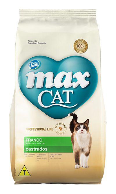 Ração Max Cat Premium Especial Professional Line Gatos Adultos Castrados Frango
