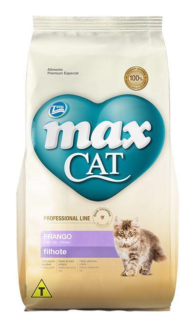 Ração Max Cat Premium Especial Professional Line Gatos Filhotes Frango 20kg