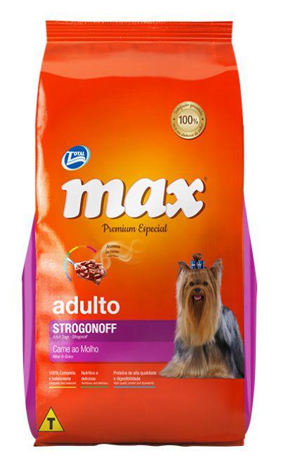 Ração Max Premium Especial Cães Adultos Strogonoff  ao Molho