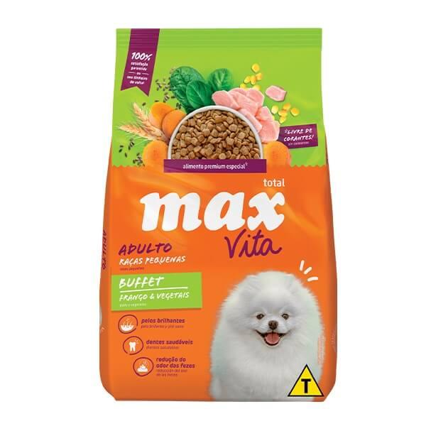 Ração Max Vita Premium Especial Buffet Cães Adultos Raças Pequenas Frango