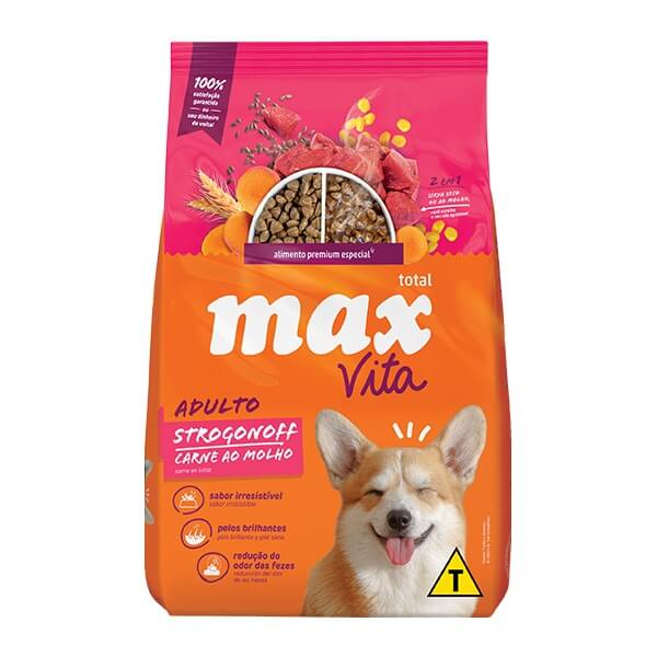 Ração Max Vita Premium Especial Cães Adultos Strogonoff