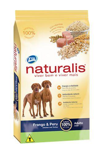 Ração Naturalis Cães Adultos Raças Grandes Frango e Peru 15Kg