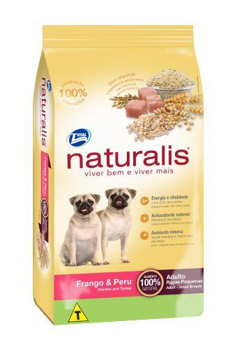 Ração Naturalis Cães Adultos Raças Pequenas Frango e Peru 15Kg