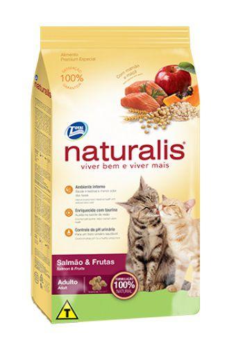 Ração Naturalis Gatos Adultos Salmão e Frutas