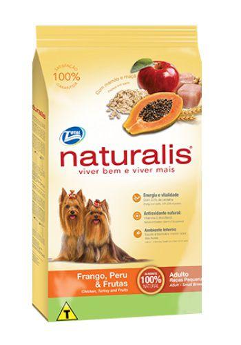 Ração Naturalis Raças Pequenas Cães Adultos Frango, Peru e Frutas