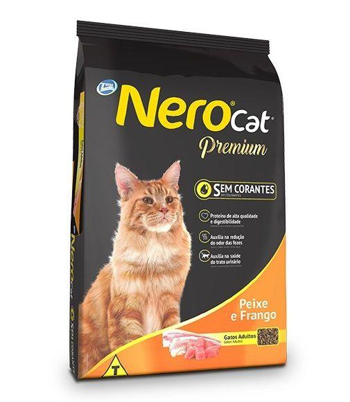 Ração Nero Cat Premium Para Gatos Adultos Frango e Peixe