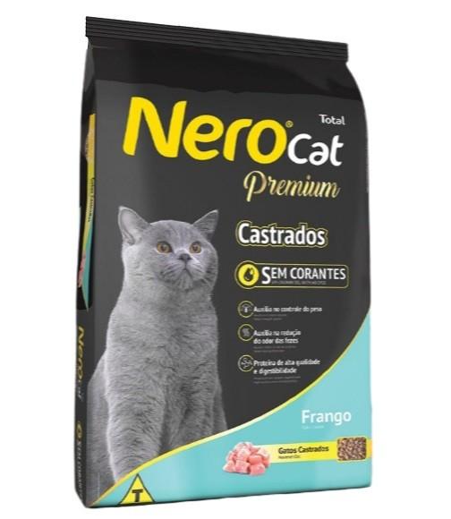 Ração Nero Premium Gatos Castrados Frango