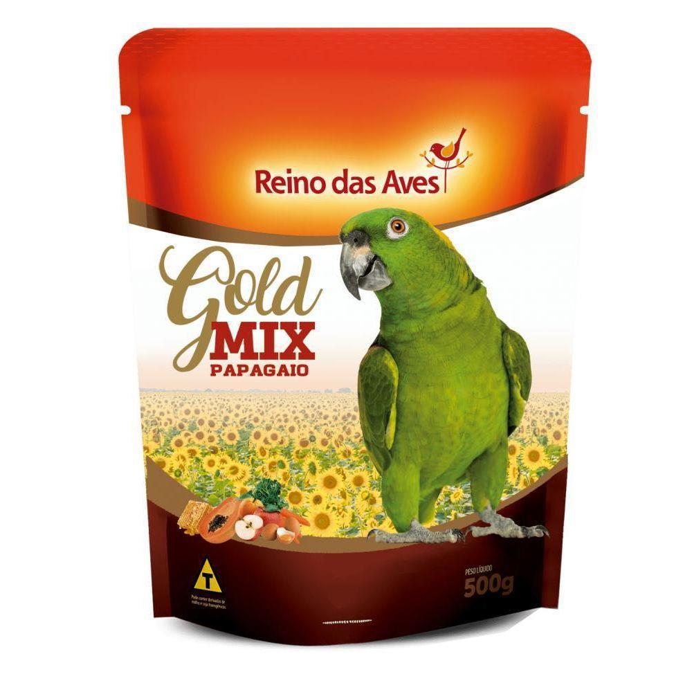 Ração Papagaio Gold Mix Reino Das Aves 500g