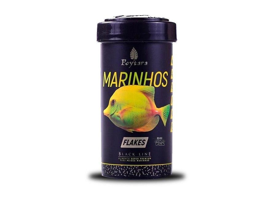 Ração para Peixe Marinhos Flakes Poytara 30g