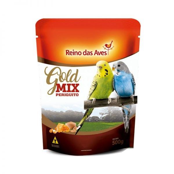 Ração Periquito Reino das Aves Gold Mix 500g