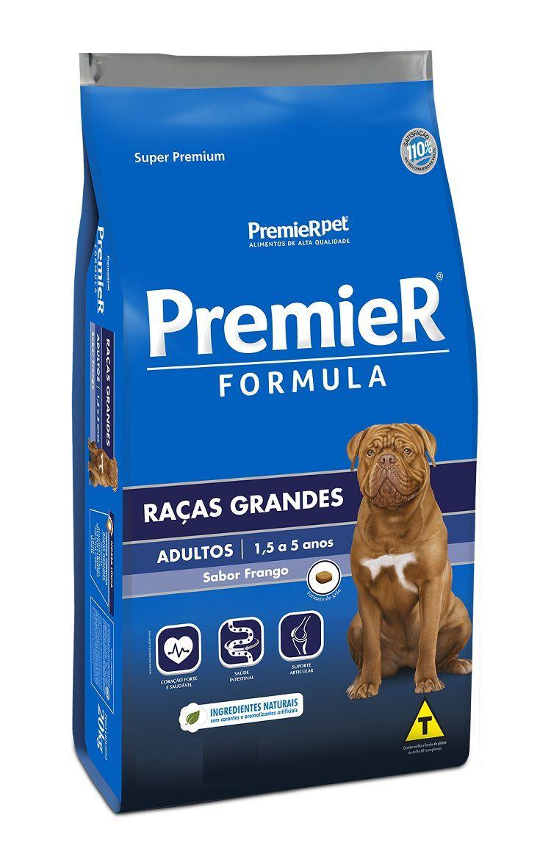 Ração Premier Formula Cães Adultos Raças Grandes Frango