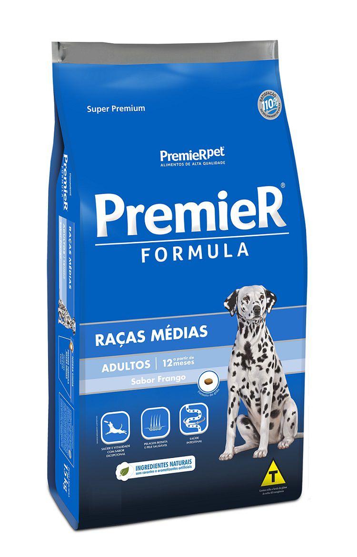 Ração Premier Formula Cães Adultos Raças Medias Frango 20Kg