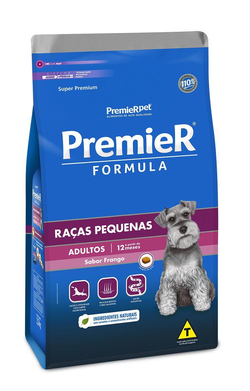 Ração Premier Formula Cães Adultos Raças Pequena Frango