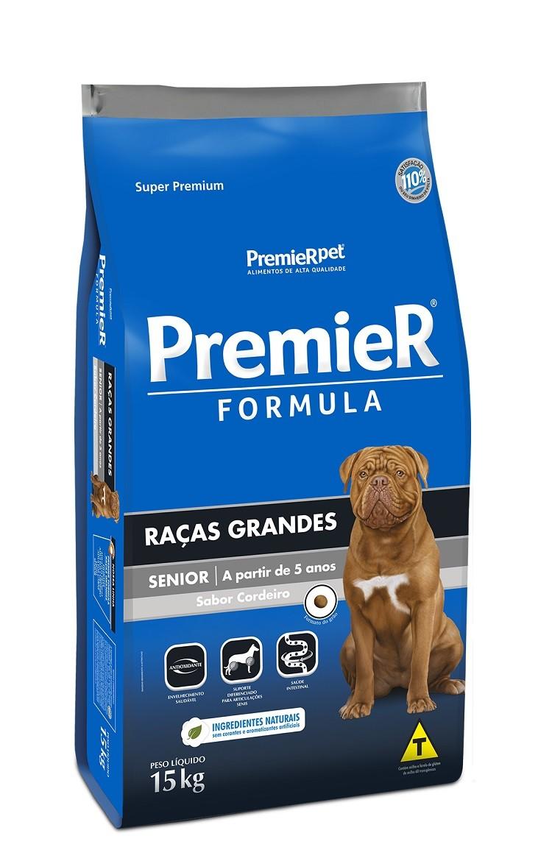 Ração Premier Formula Cães Adultos Sênior Raças Grandes e Gigantes a Partir de 5 anos 15kg